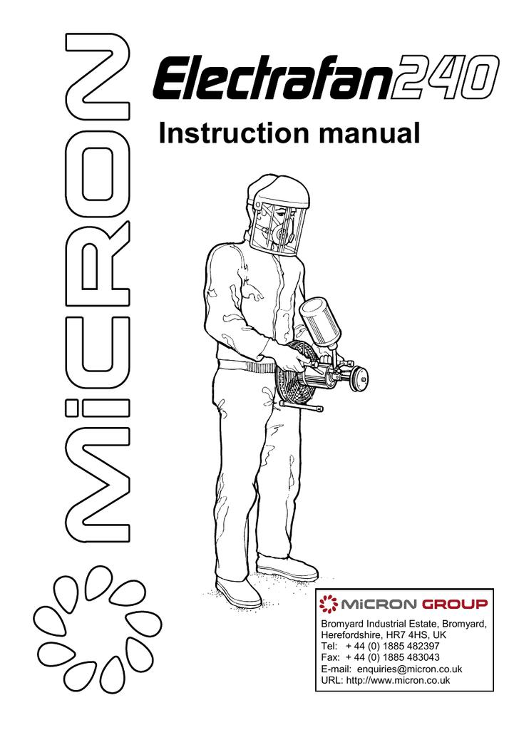 electrafan 240 manual | manualzz.com on