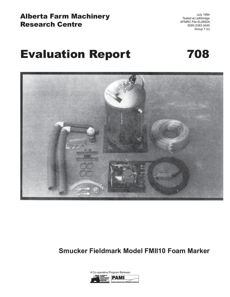708 Smucker Fieldmark Model Fmii10 Foam Marker 1994
