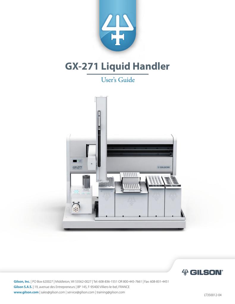 Gx 271 Liquid Handler Users Guide Wiring Diagram Gilson S 12