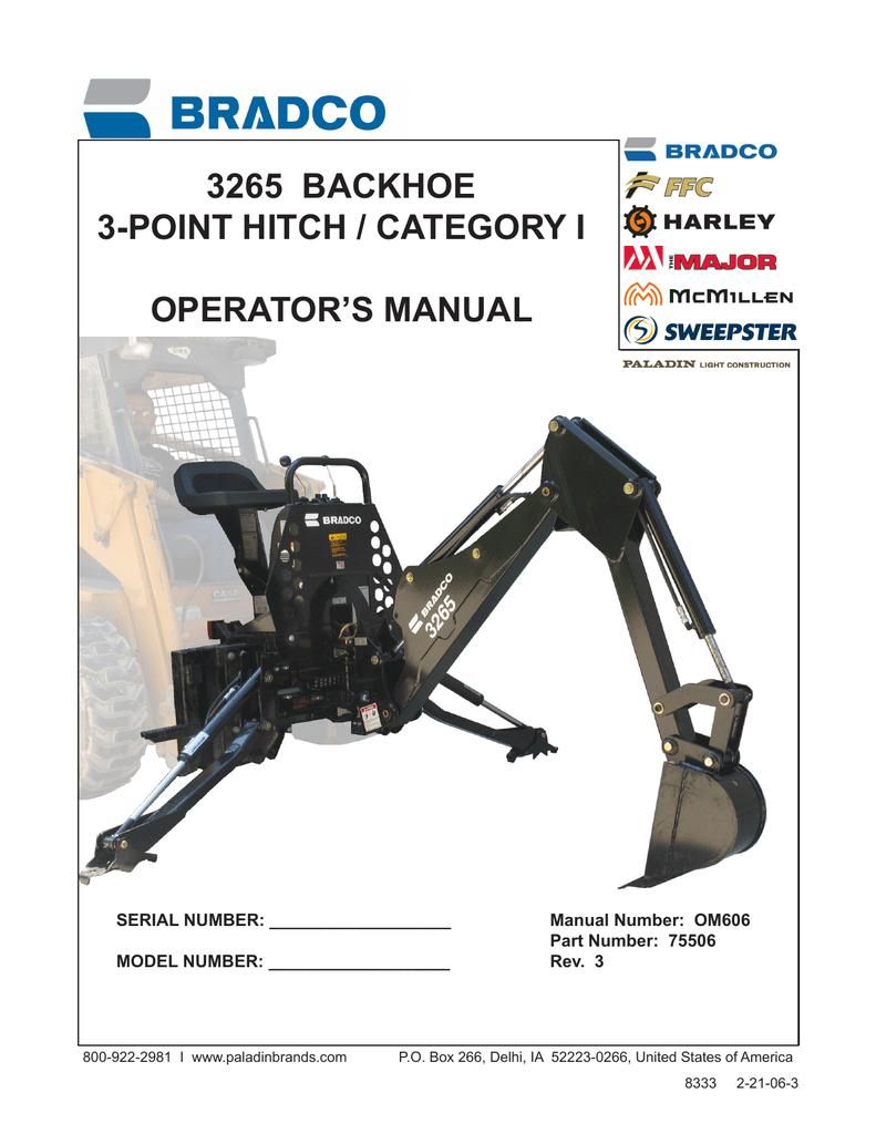 3265 Backhoe Operator Manual OM606 | manualzz com