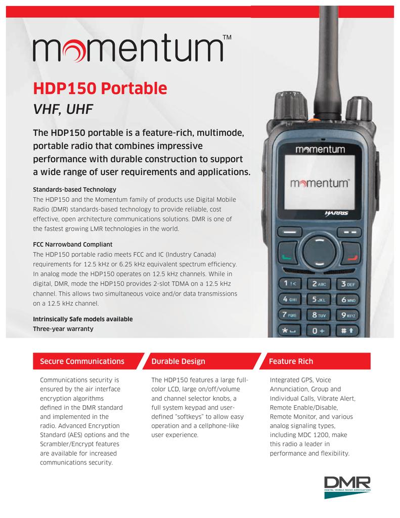 HDP150 VHF, UHF Data Sheet | manualzz com