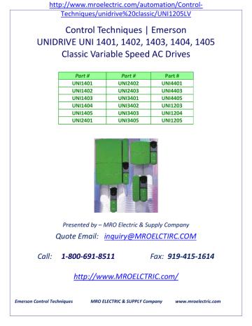 control techniques unidrives | Segment 001 of Classic Unidrive.pdf