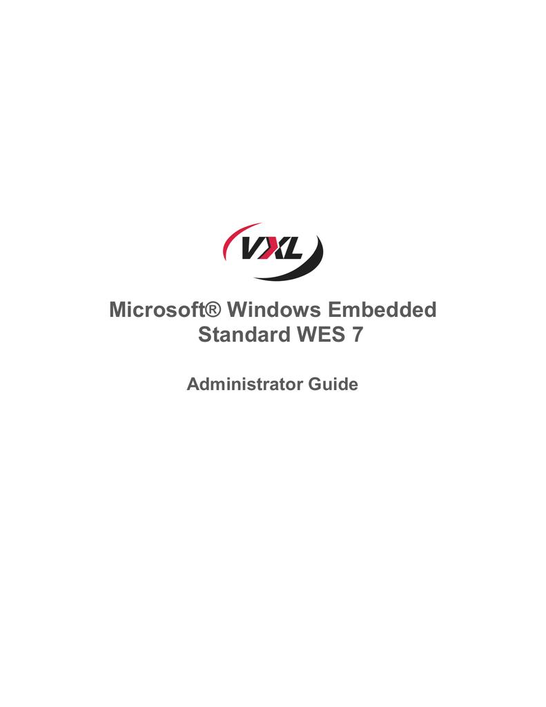WES 7 Administrator Guide - VXL Thin Clients | manualzz com