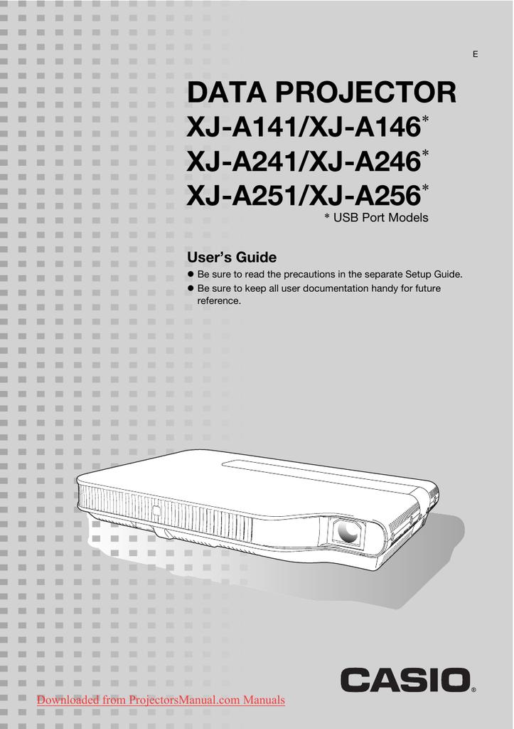 casio xja141 manual