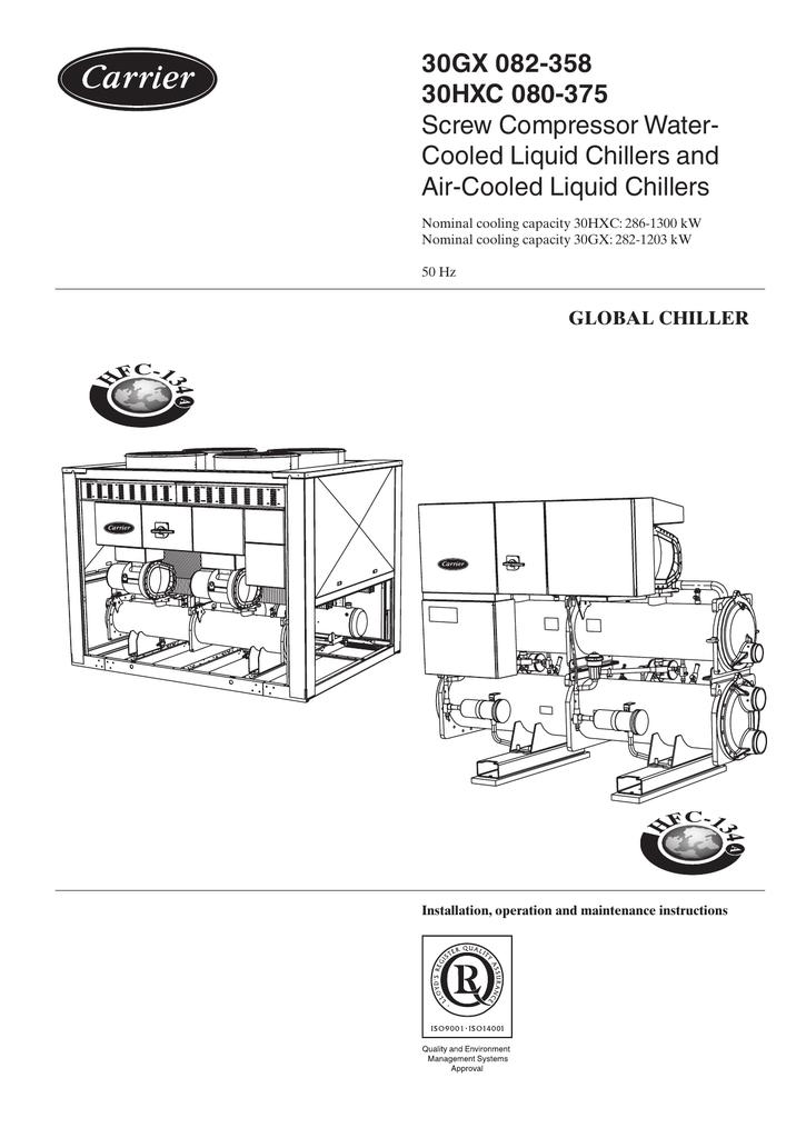 30gx 082 358 30hxc 080 375 screw compressor water cooled liquid rh manualzz com Carrier Evergreen Chillers Carrier Chiller Service