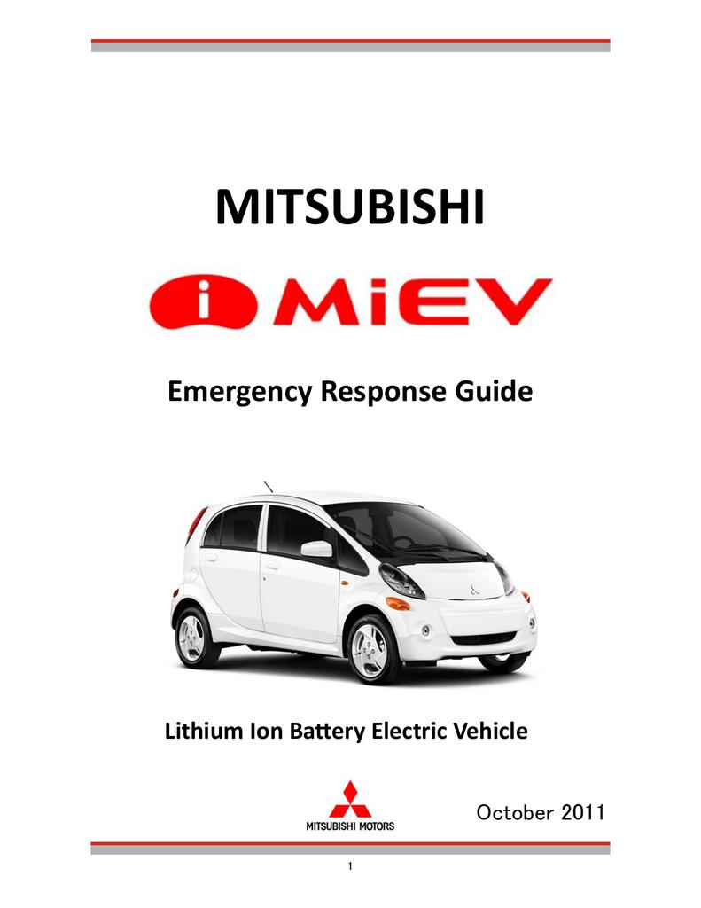 Mitsubishi Miev Fuse Box Layout I Emergency Response Guide 791x1024