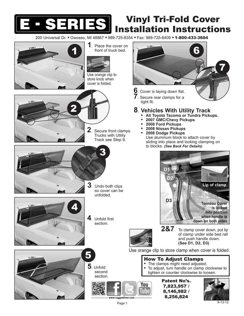 Rugged Liner Premium Tri Fold Tonneau Cover Installation Instructions Manualzz