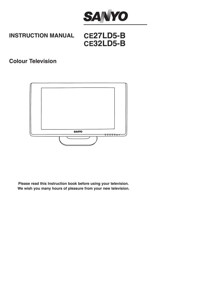 Sanyo CE27LD5 B (TV manual) | manualzz com