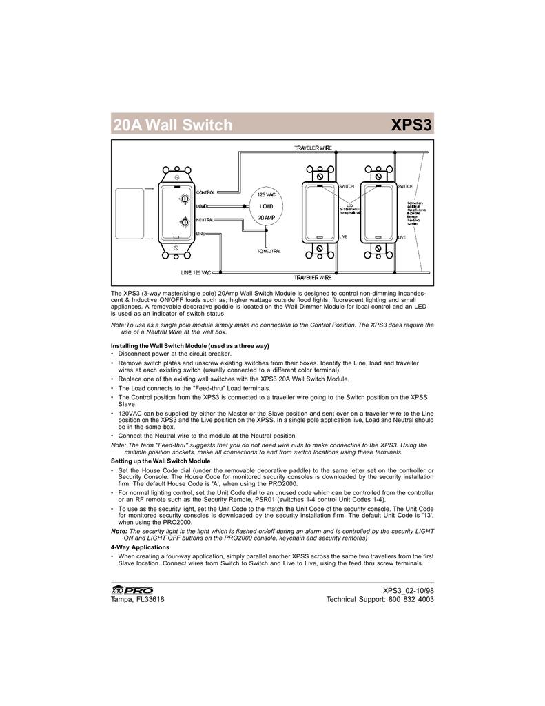 X10-WS13A X10 Appliance Wall Switch | Manualzz | X10 Switch Wiring Diagram |  | manualzz