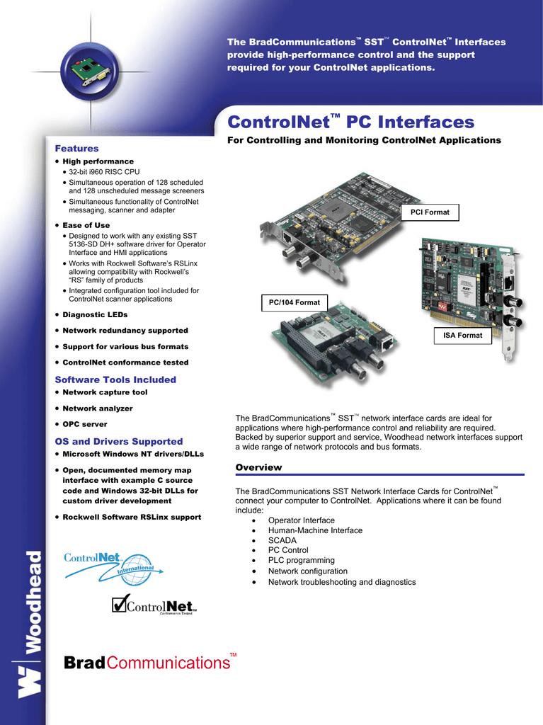 The BradCommunications SST ControlNet Interfaces | manualzz com