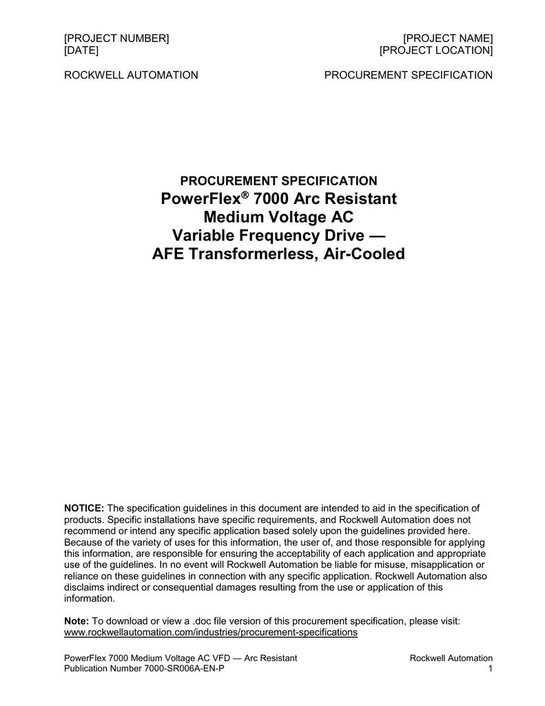 Powerflex 7000 Arc Resistant Mv Vfd Afe Transformerless Air The Mains High Low Voltage Cut Off Circuit Version Of