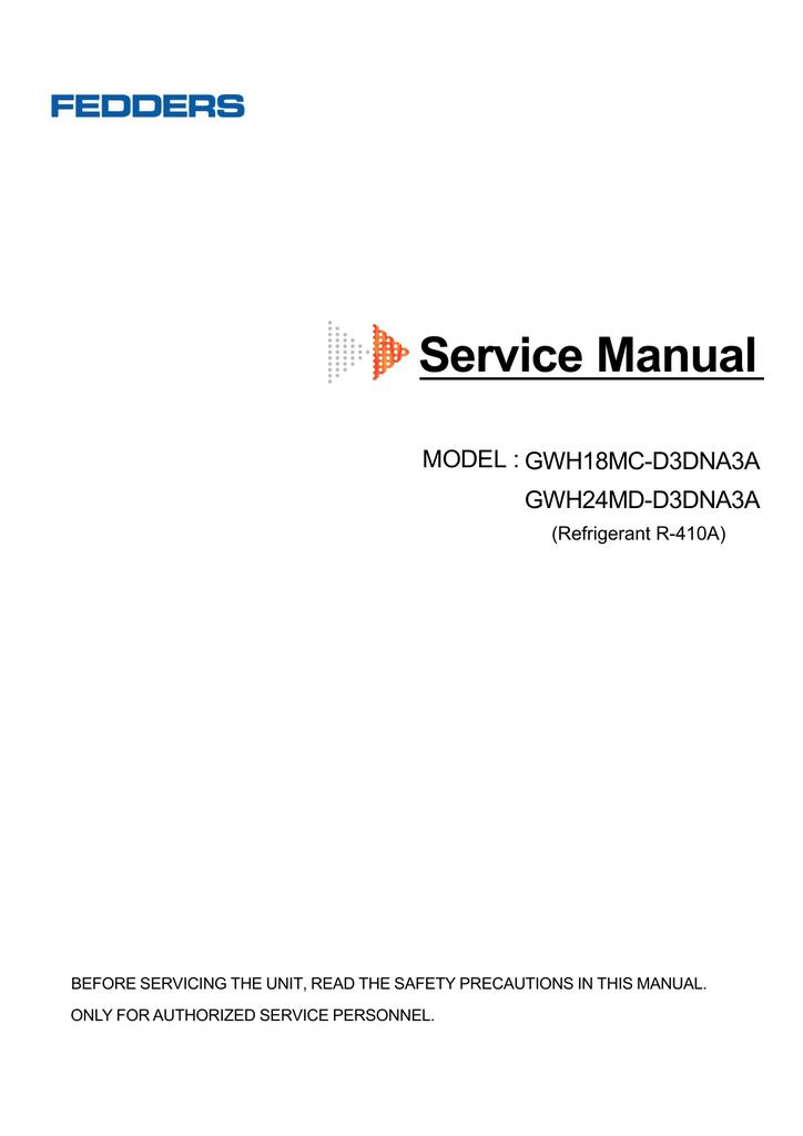 [SCHEMATICS_4FR]  FEDDERS SERIES-SERVICE MANUAL | Manualzz | Fedders Air Handler Wiring Diagram |  | manualzz