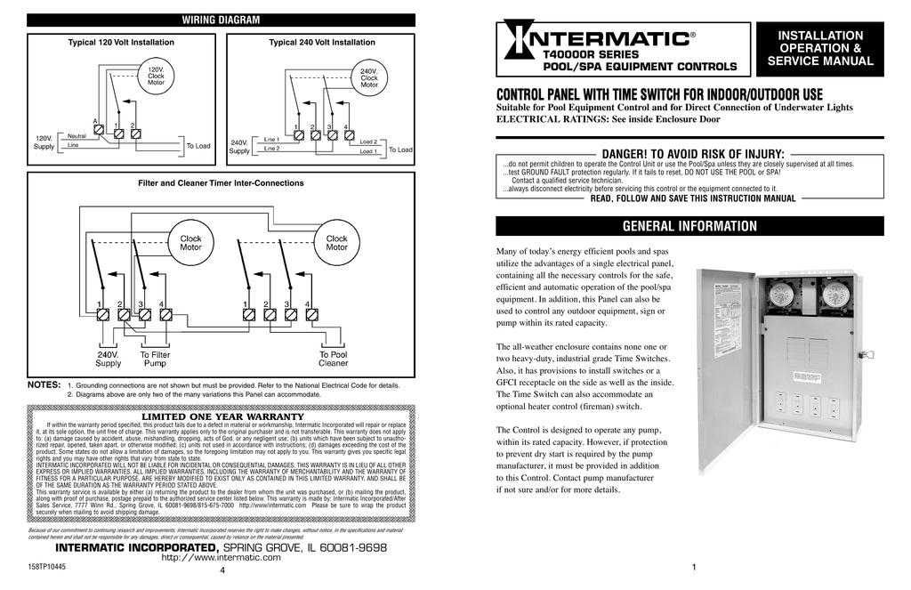 t103 clock wiring diagram pool t40000rt series instructions manualzz  t40000rt series instructions manualzz