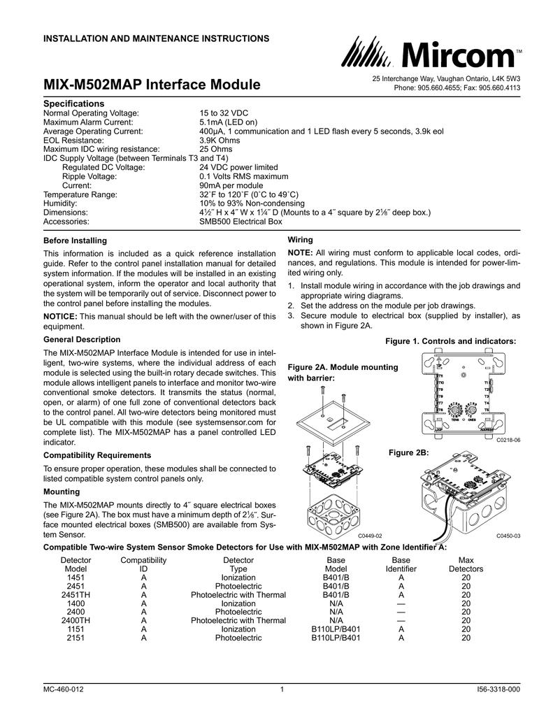 I56 3318 Mix M502map En Zone Wiring Box