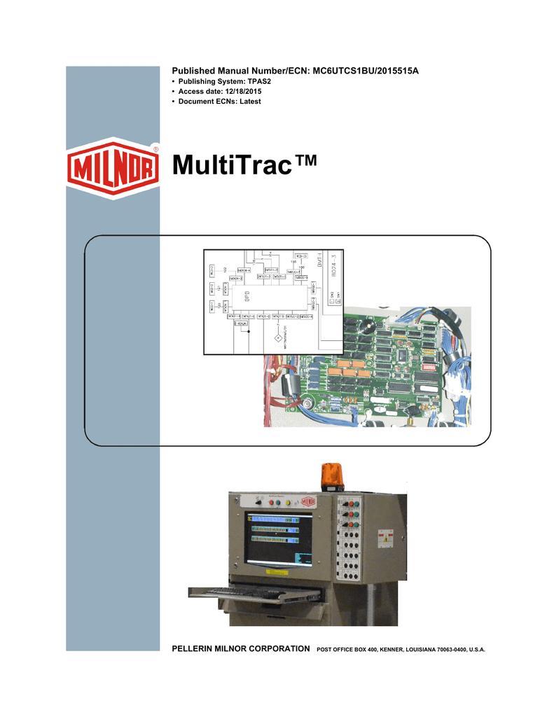 Multitrac Published Manual Number Ecn Mc6utcs1bu 2015515a Pellerin Milnor Dryer Wiring Diagram Corporation Publishing System Tpas2