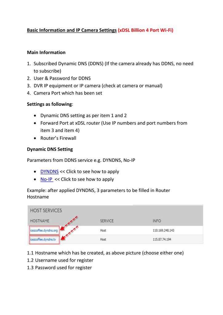 Basic Information and IP Camera Settings Main Information
