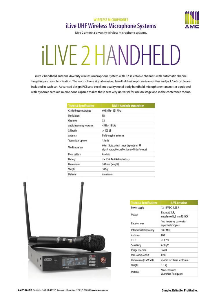 iLive 2 handheld | manualzz com