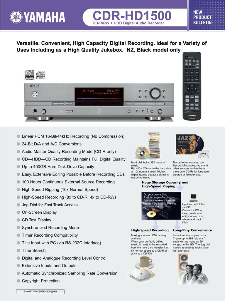 Yamaha CDR-HD1500-250   manualzz com