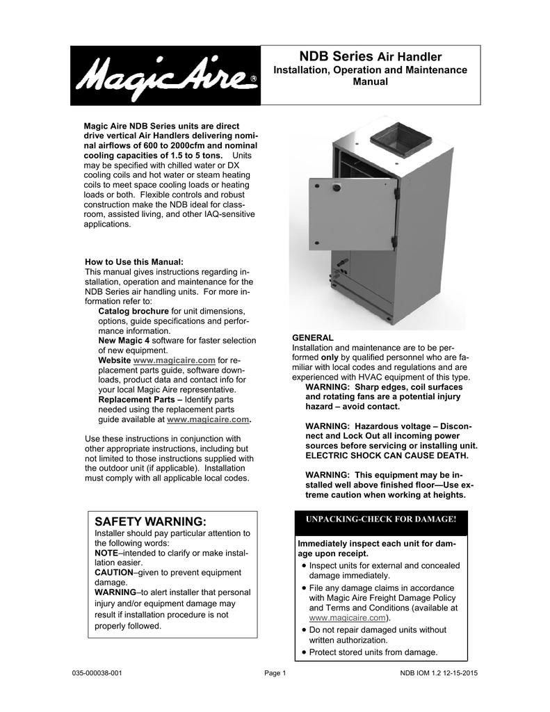 Ndb Installation Operation Maintenance Manual Block Diagram