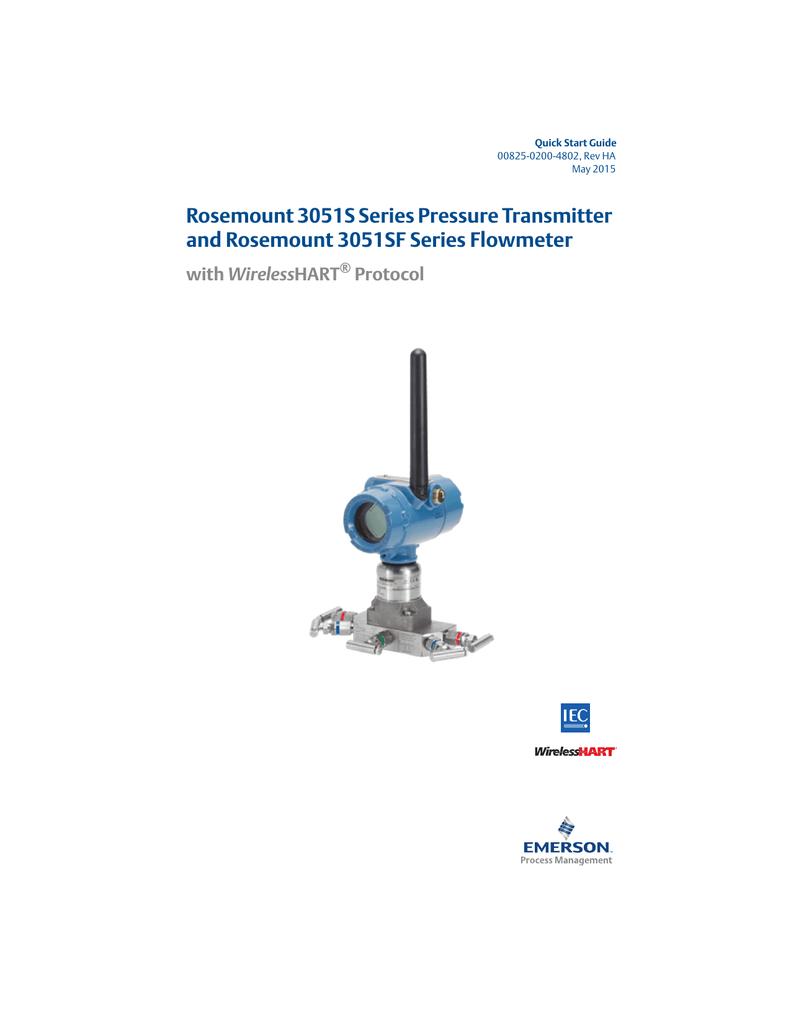 Quick Start Guide Rosemount 3051s Series Pressure Transmitter And Wiring Diagram 3051sf Flowmeter With Wirelesshart Protocol