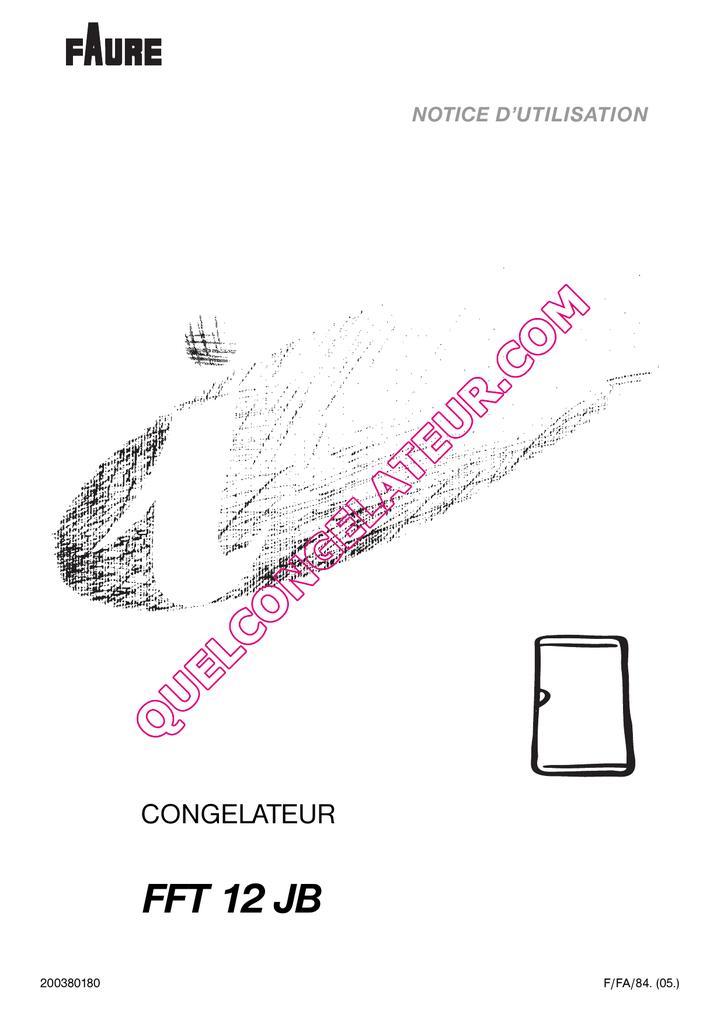faure fft 12 jb congelateur notice 411