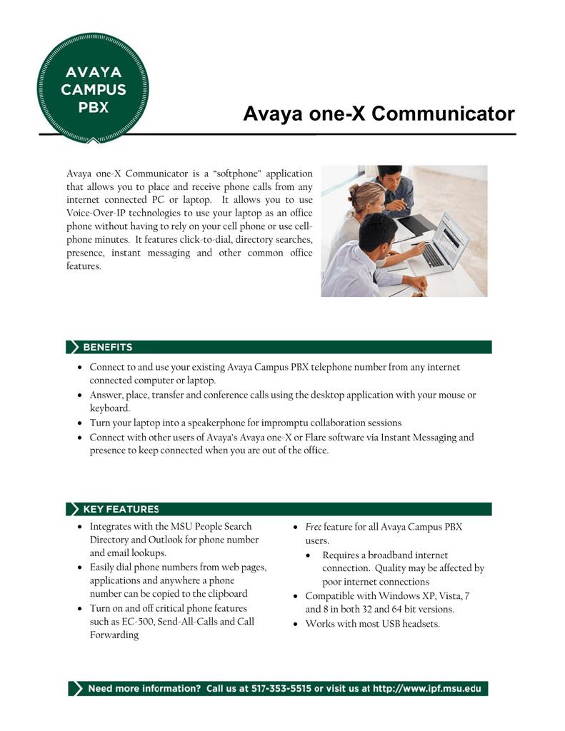 Avaya one-X Communicator | manualzz com