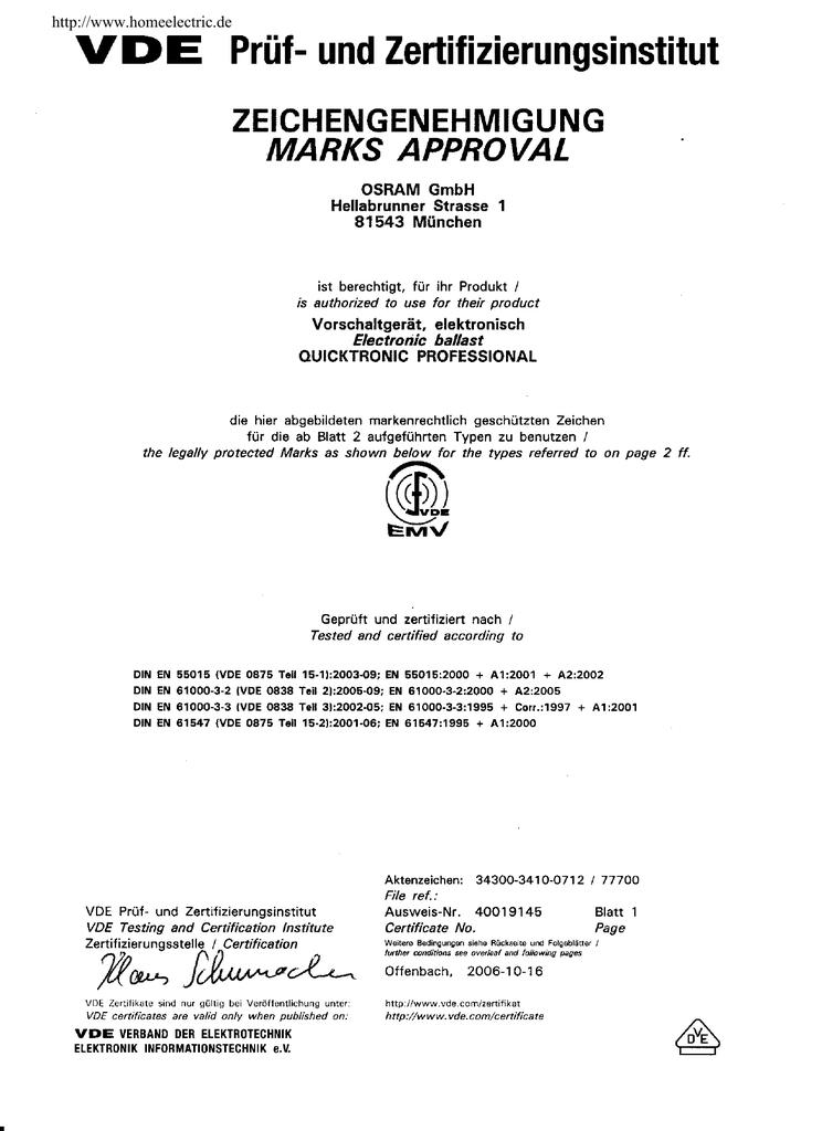VDE Zertifikat   manualzz.com