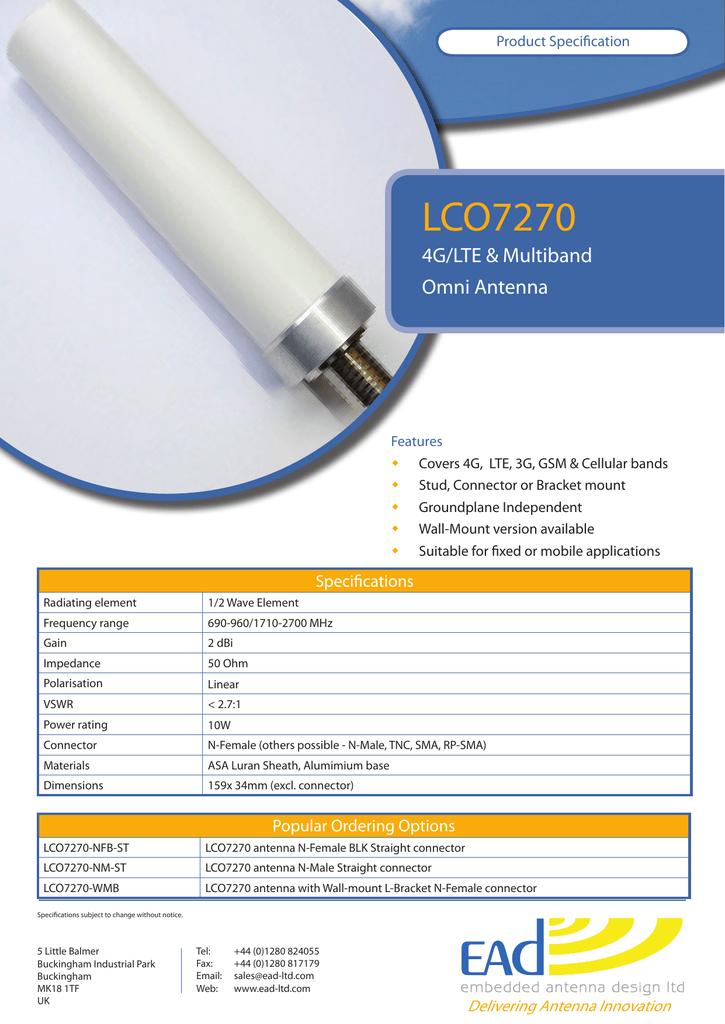 LCO7270 4G/LTE &