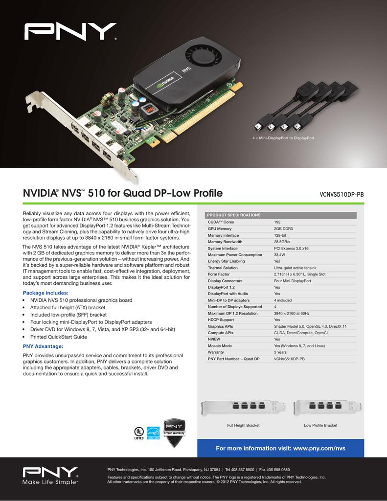 PNY NVIDIA NVS 20 Quad DisplayPort UHD 20K Graphics Card ...