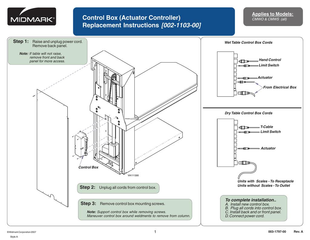 Control Box Replacement (002-1103-00) | manualzz com