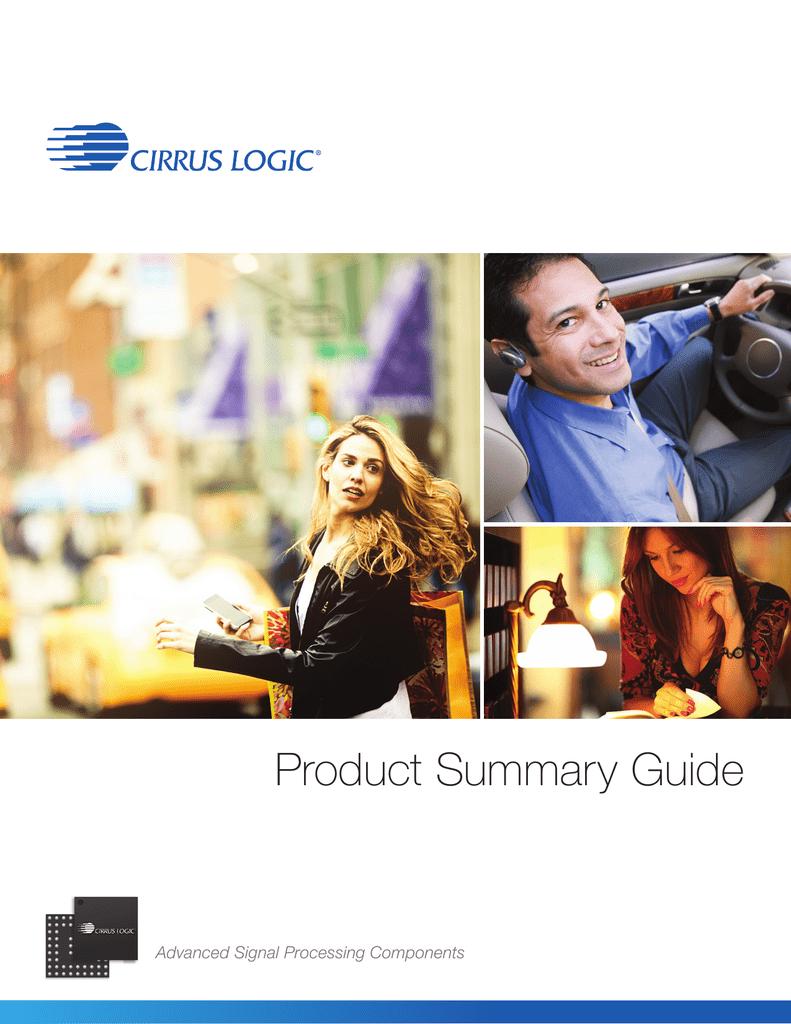 Cirrus Logic Product Summary Guide | manualzz com