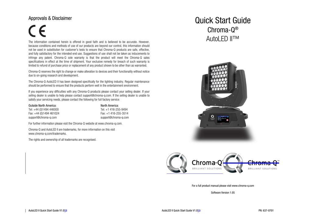 Chroma Q AutoLED II Quick Start Guide | manualzz com
