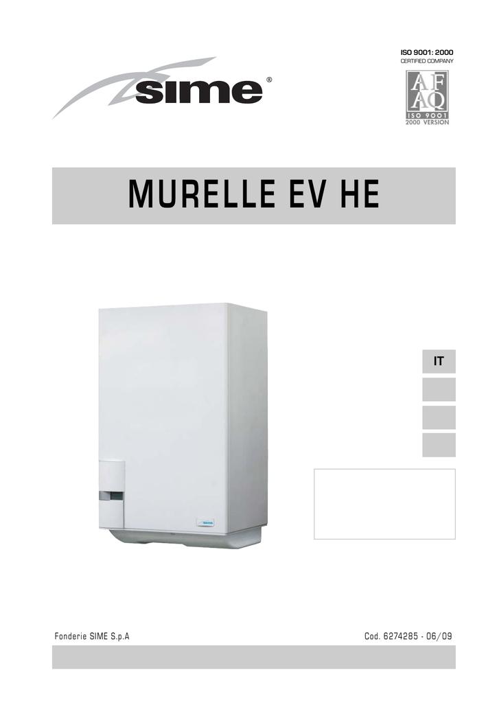 SIME manuale uso caldaia MURELLE EV HE | manualzz.com