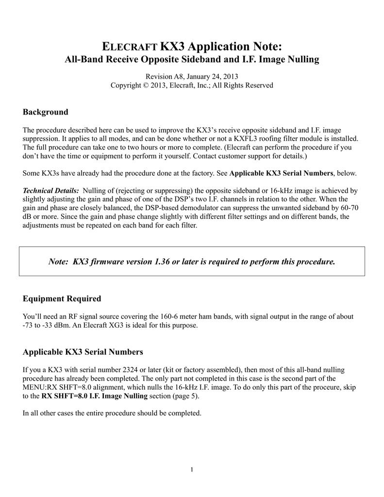 E KX3 Application Note: LECRAFT   manualzz com