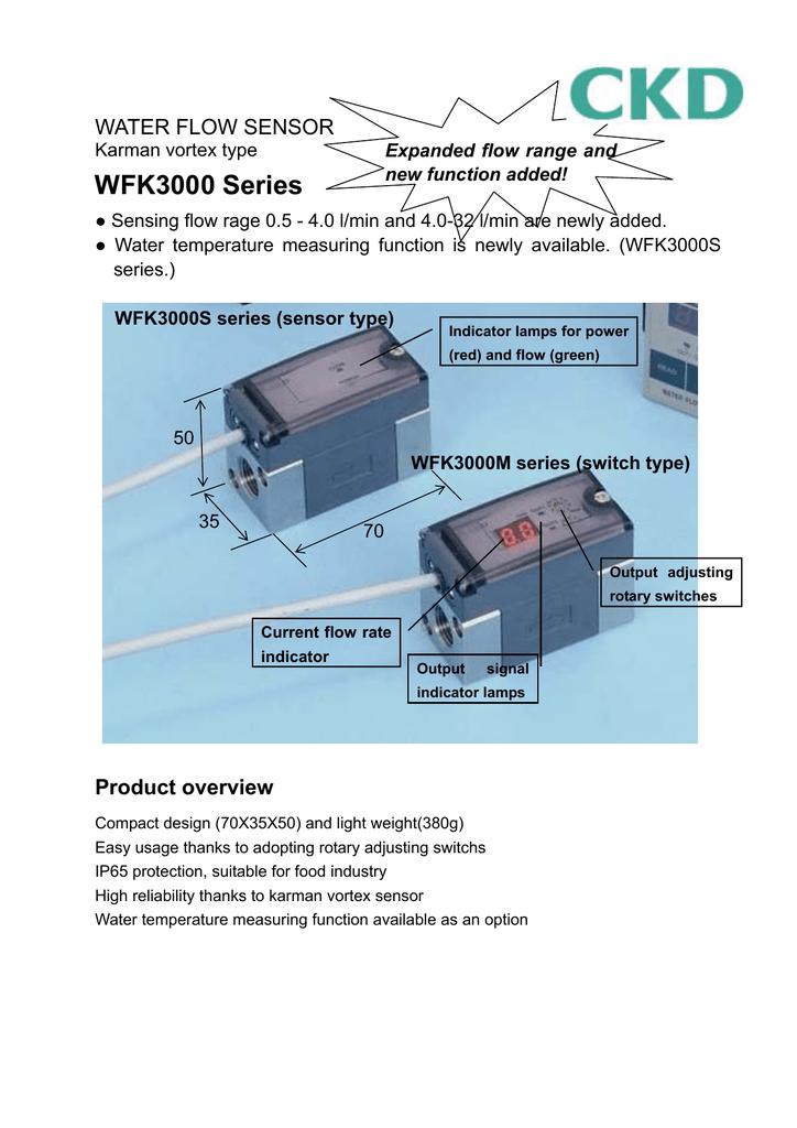 WFK3000 Series WATER FLOW SENSOR   manualzz.com