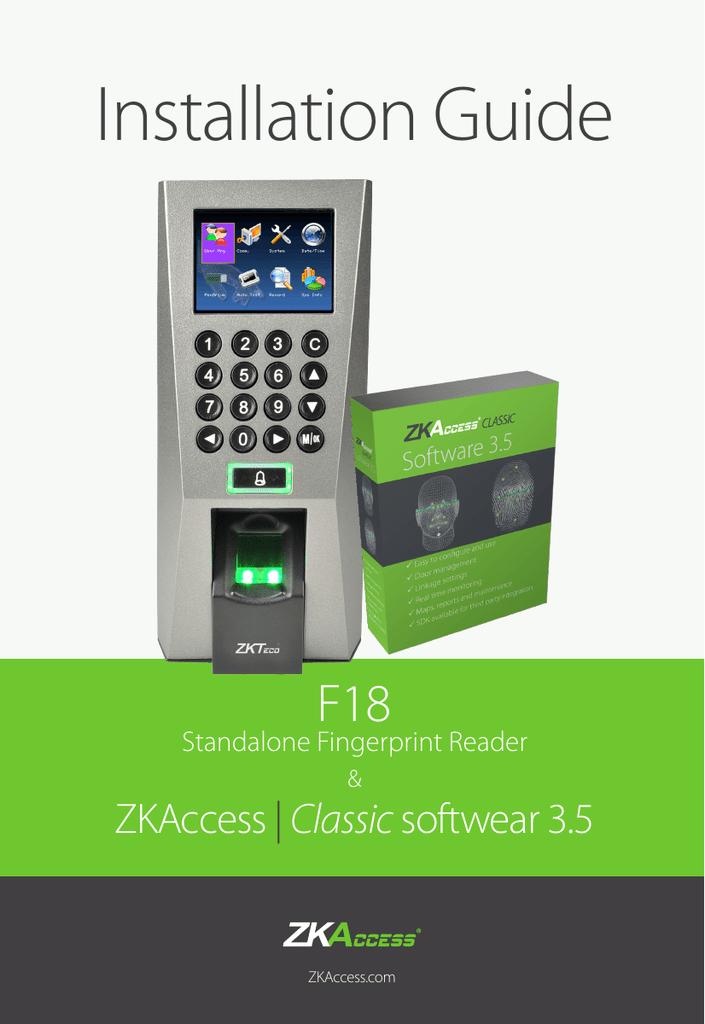 Installation Guide F18 ZKAccess | manualzz com