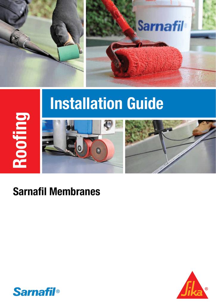 Roofing Installation Guide Sarnafil Membranes | manualzz com