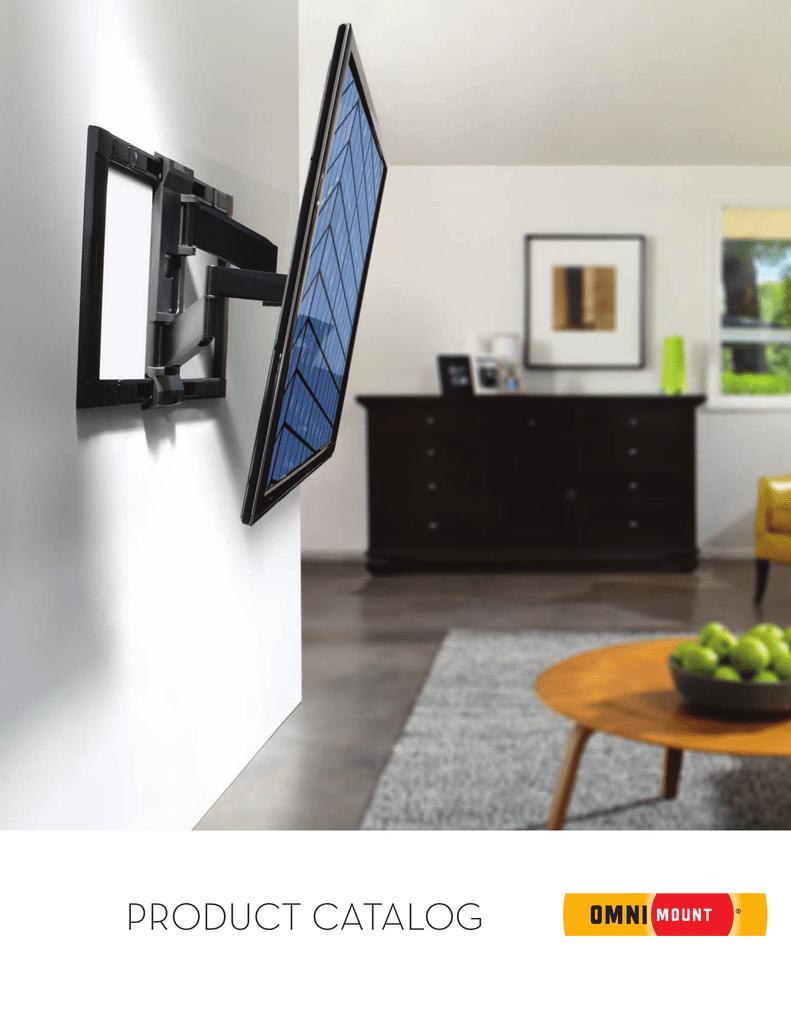"OmniMount Full Motion TV Mount for 42-70/"" TV w// 3-Step Installation Die-Cast"