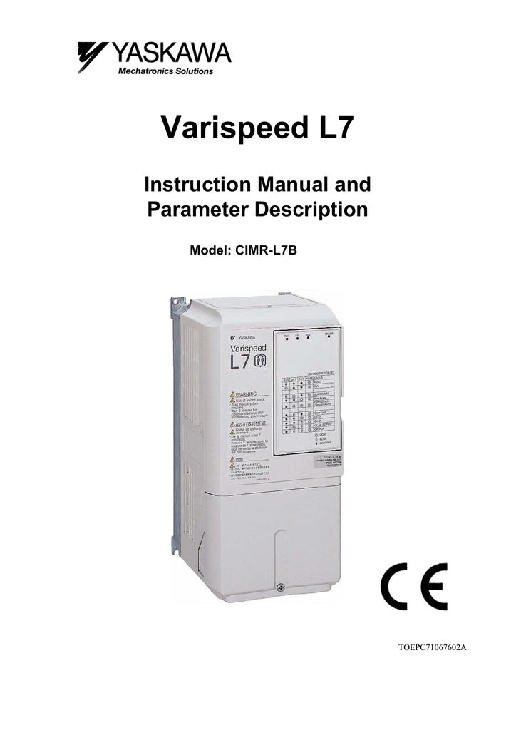 Yaskawa L7 Instruction Manual | manualzz.com on