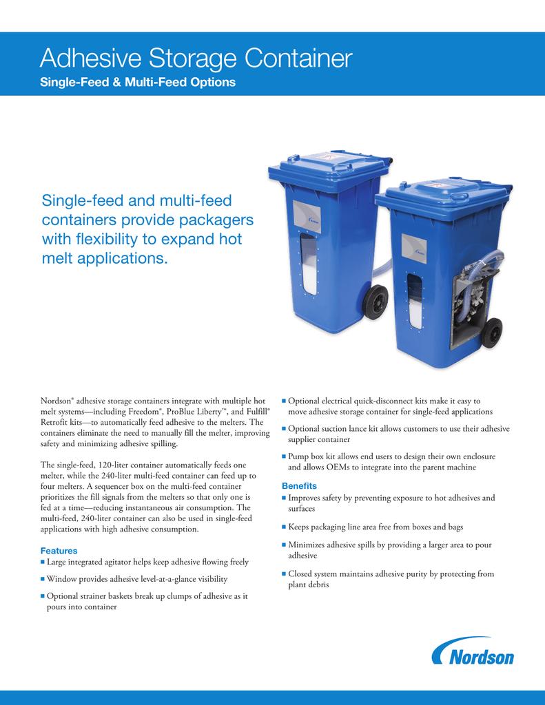 Adhesive Storage Containers Data Sheet | manualzz com