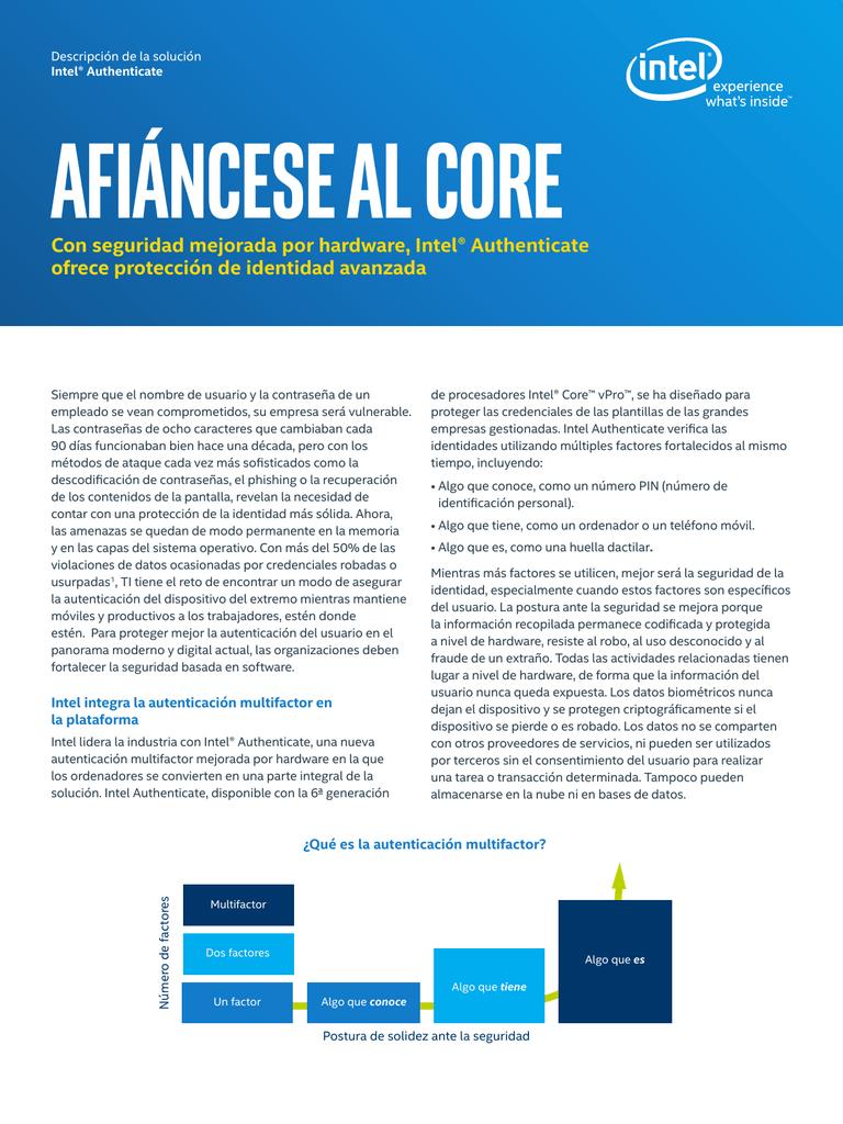 Afiáncese Al core Con seguridad mejorada por hardware, Intel ...