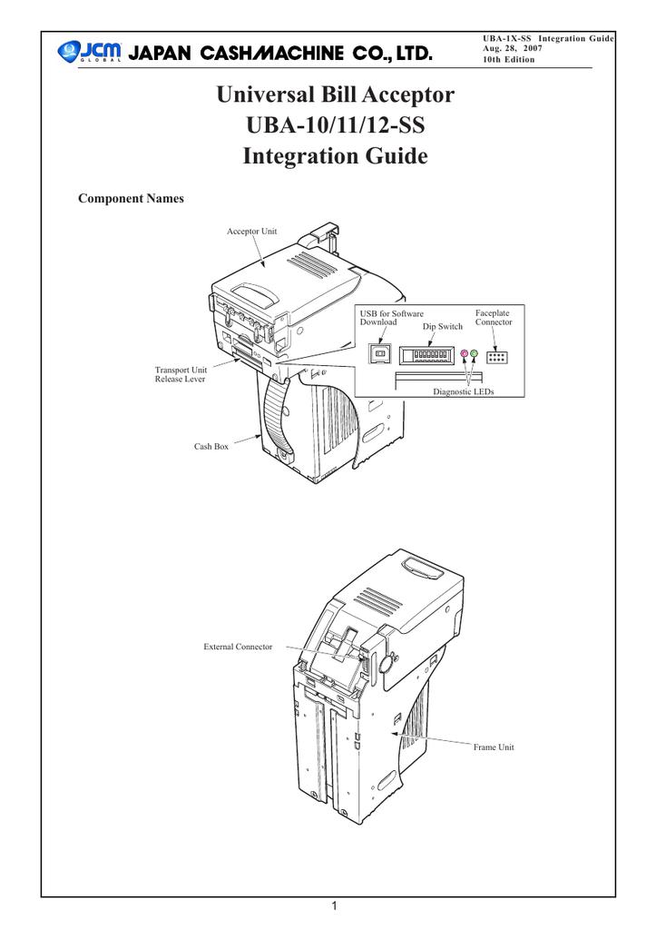 JCM UBA Integration Guide | manualzz com