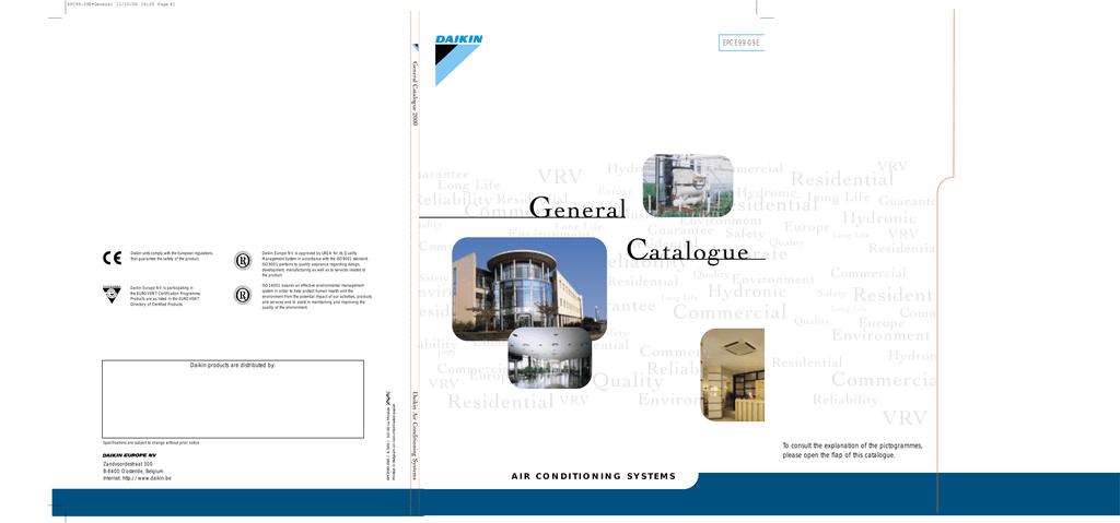 DAIKIN catalogo generale | manualzz com