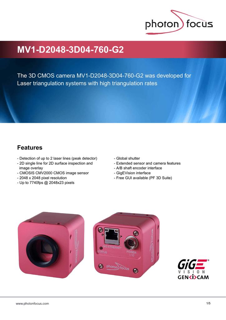 Datasheet MV1-D2048-3D04-760-G2 | manualzz com