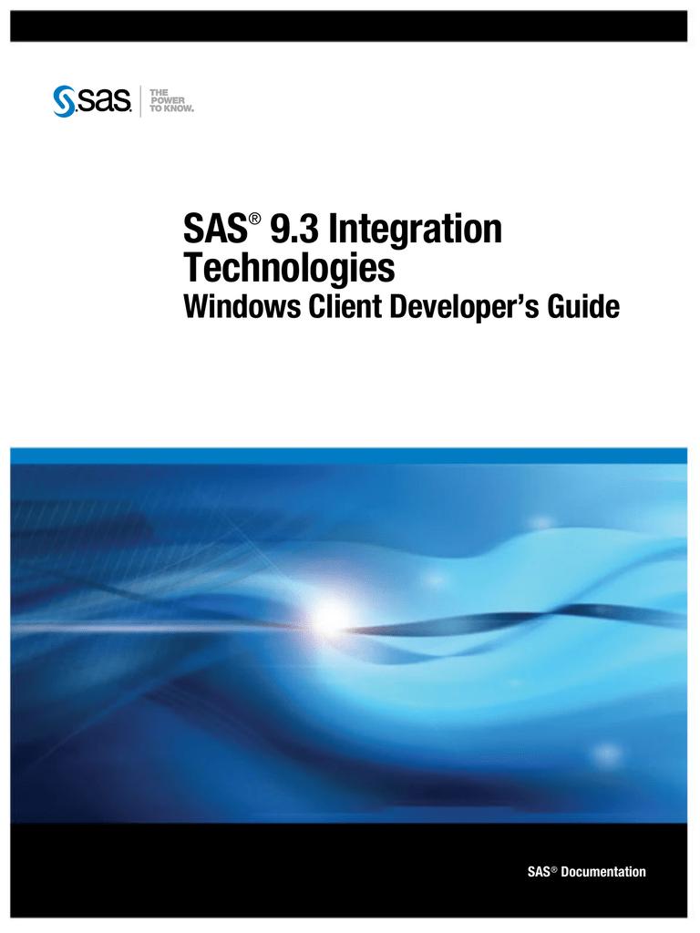 SAS 9 3 Integration Technologies Windows Client Developer's