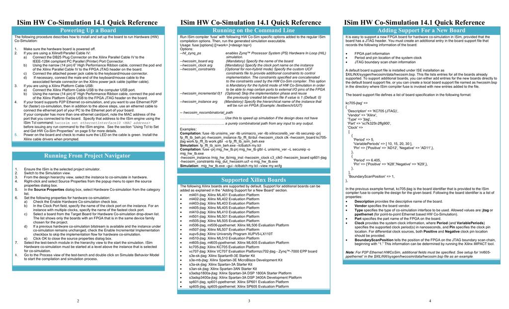 HW Co-Simulation Quick Reference Guide | manualzz com