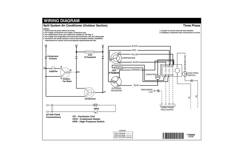 split type air conditioner wiring diagram 3 phase  1999