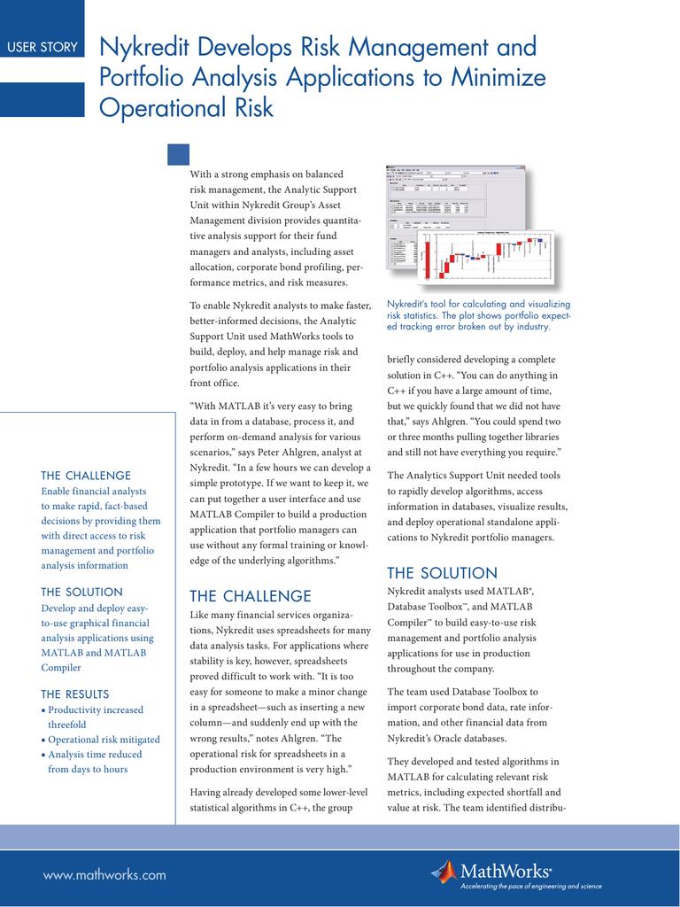 Nykredit Develops Risk Management and Portfolio Analysis