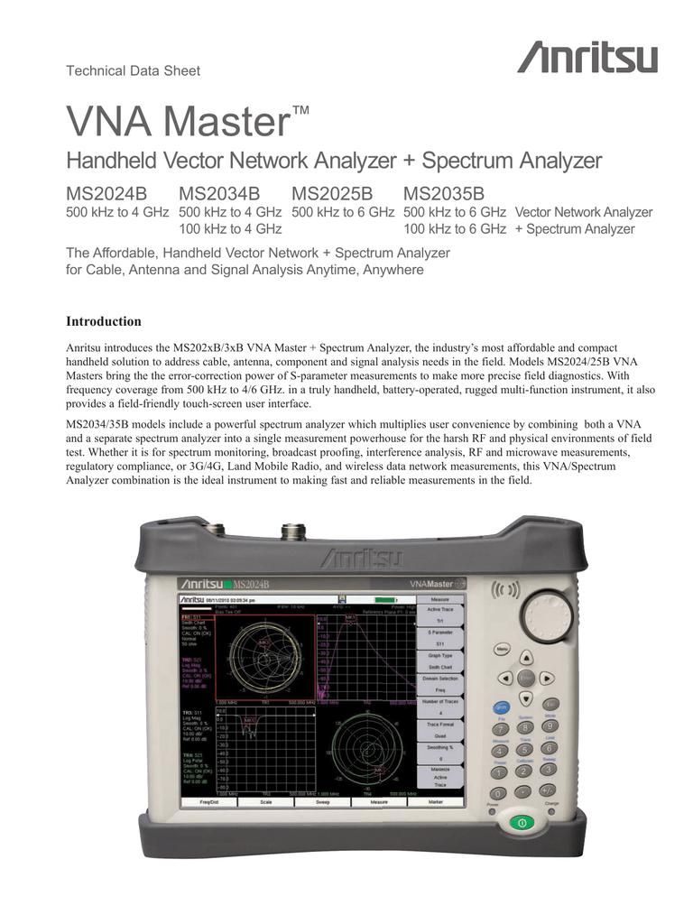 Описание Anritsu VNA Master MS2025B (ENG)   manualzz com