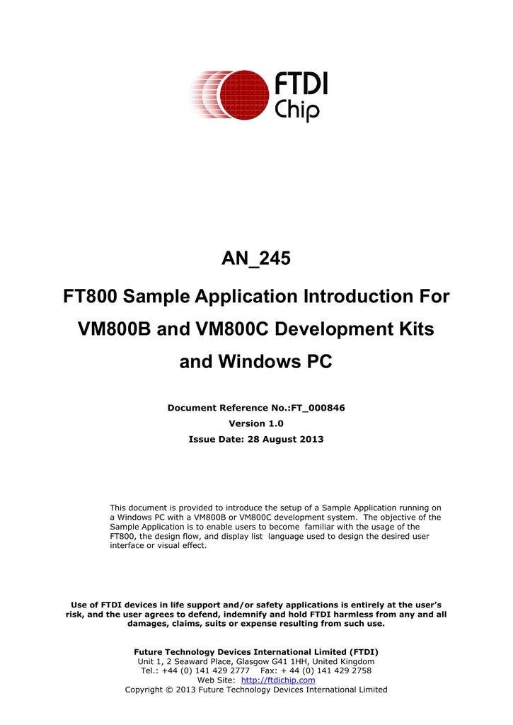 AN_245 VM800CB_SampleApp_PC_Introduction | manualzz com